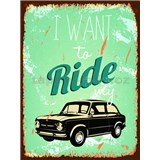 Retro cedule Ride My Car 40 x 30cm - POSLEDNÍ KUSY