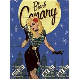 Retro cedule Black Canary 40 x 30 cm