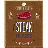 Retro cedule Steak House 40 x 30cm - POSLEDNÍ KUSY