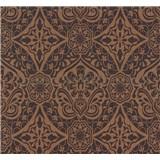 Vliesové tapety na zeď Sinfonia ornament tmavě hnědý