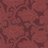 Vliesové tapety Goya - bordové květy - SLEVA