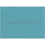 Tapety papírové - modrá jednobarevná se strukturou malby - SLEVA