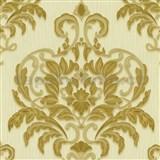 Vliesové tapety na zeď Spotlight - zámecký vzor zlato-béžový
