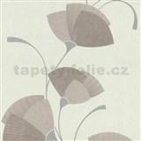 Vliesové tapety na zeď Spotlight - listy světle růžové