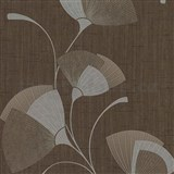 Vliesové tapety na zeď Spotlight - listy hnědé