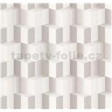 Vliesové tapety na zeď Spotlight 3D kostky šedé
