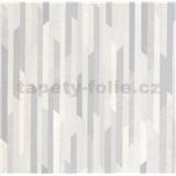 Vliesové tapety na zeď Spotlight II pásky šedé/stříbrné