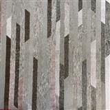 Vliesové tapety na zeď Spotlight II pásky černé/stříbrné/šedé