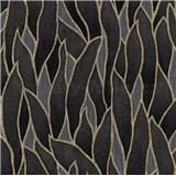 Vliesové tapety na zeď IMPOL Spotlight 3 popínavé listy černo-zlaté na šedém podkladu