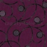 Vliesové tapety na zeď Studio Line - Magic Circles - hnědé na fialovém podkladu - POSLEDNÍ KUSY