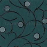 Vliesové tapety na zeď Studio Line - Magic Circles - černé na zeleném podkladu - SLEVA