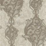 Vliesové tapety na zeď Studio Line - Opulent zámecké ornamenty hnědé se třpytem