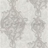 Vliesové tapety na zeď Studio Line - Opulent zámecké ornamenty světle hnědé se třpytem