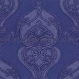 Luxusní vliesové tapety na zeď Studio Line - Graceful zámecký vzor modrý se třpytem