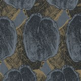 Vliesové tapety na zeď Studio Line - Ligneous modro-hnědé