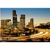 Vliesové fototapety světla města rozměr 368 cm x 254 cm