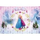 Vliesové fototapety Frozen Family Forever rozměr 184 cm x 254 cm
