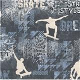 Vliesové tapety na zeď IMPOL Sweet and Cool skate - street style šedo-modrý