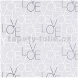 Vliesové tapety na zeď IMPOL Sweet and Cool LOVE světle šedé