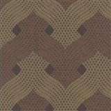 Luxusní vliesové tapety na zeď Light Story - zámecký vzor bronzovo-měděný