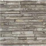 Papírové tapety na zeď - dřevěný klinker natural