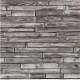 Tapety na zeď papírové - dřevěný klinker hnědo-šedý