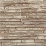 Tapety na zeď papírové - dřevěný klinker světle hnědý