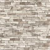 Papírové tapety na zeď - kamenný obklad světle hnědý