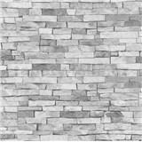 Tapety na stěnu papírové - kamenný obklad světle šedý