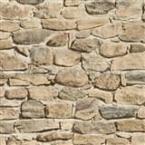 Tapety papírové - ukládaný kámen béžový