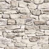 Papírové tapety na zeď - ukládaný kámen světle hnědý