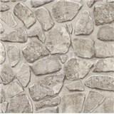 Papírové tapety na zeď - kamenná zeď světle hnědá