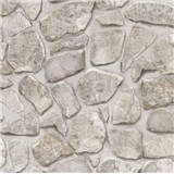Tapety na zeď papírové - kamenná zeď světle šedá