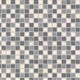 Vinylové tapety na zeď kachličky mozaika šedé