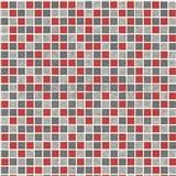 Vinylové tapety na zeď kachličky mozaika šedo-červené