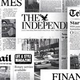 Papírové tapety na zeď noviny Newspaper