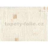 Vinylové tapetyna zeď kostičky na krémové struktuře