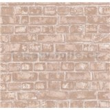 Vliesové tapety na zeď Easy Wall cihly světle hnědé