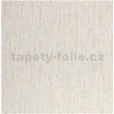 Vliesové tapety na zeď Collection strukturovaná krémová s měděnými třpytkami