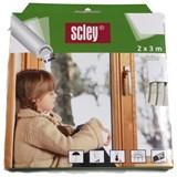 Samolepící těsnění do dveří a oken 6m profil D, těsnění 3,5-6,5mm, bílé