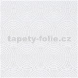 Vliesové tapety IMPOL Timeless kruhy bílé