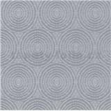 Vliesové tapety IMPOL Timeless kruhy šedé