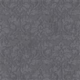 Vliesové tapety IMPOL Timeless ornamenty černé se stříbrnými třpytkami na černém podkladu