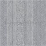Vliesové tapety IMPOL Timeless drobné ornamenty šedé na černém podkladu