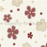 Tapety na zeď Timeless - květy červené - SLEVA