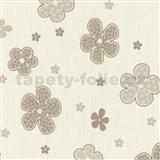 Tapety na zeď Timeless - květy hnědé - SLEVA