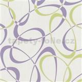 Tapety na zeď Timeless - elipsy fialovo-zelené