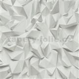 Vliesové tapety na zeď Times - 3D hrany šedé