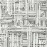 Vliesové tapety na zeď Times 3D modern bílo-šedé