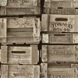 Vliesové tapety na zeď Times bedny světle hnědé